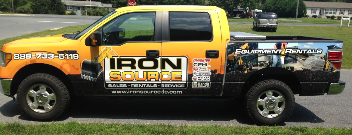 95_ironsource Vehicle Lettering / Vehicle Wraps